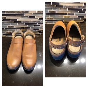 Ariat leather mules with beads